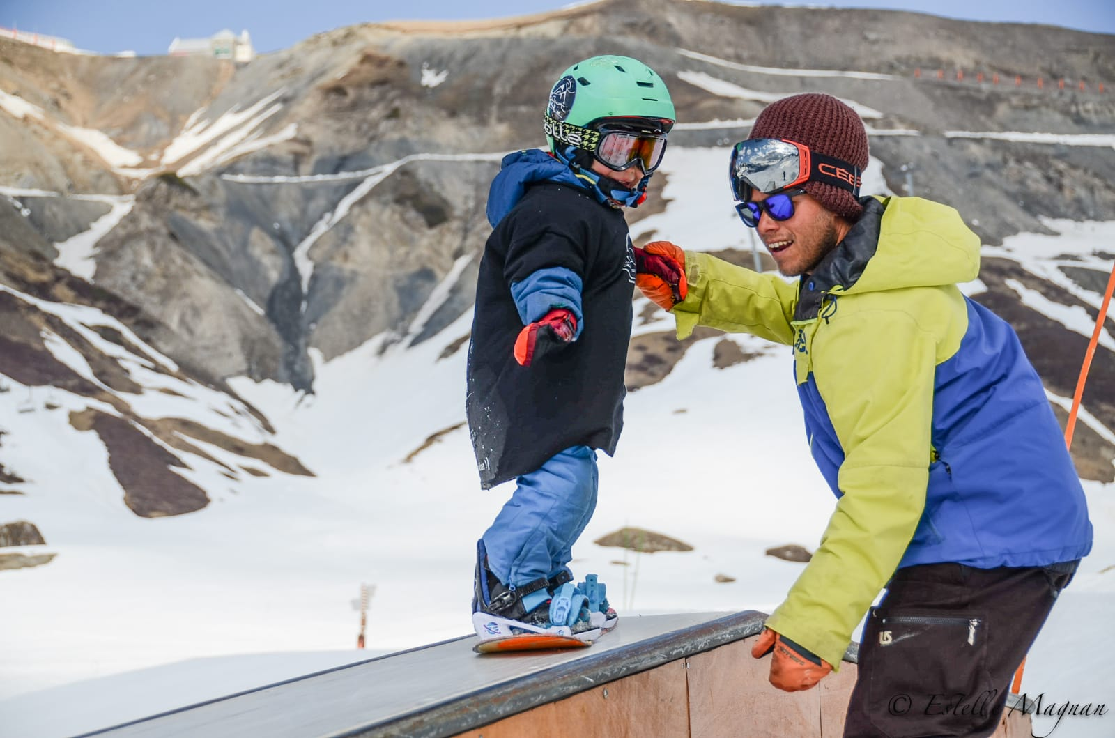 cours snowboard 2 ans